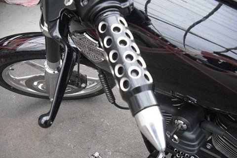 <p>Motostyling Griffe am Bike</p>